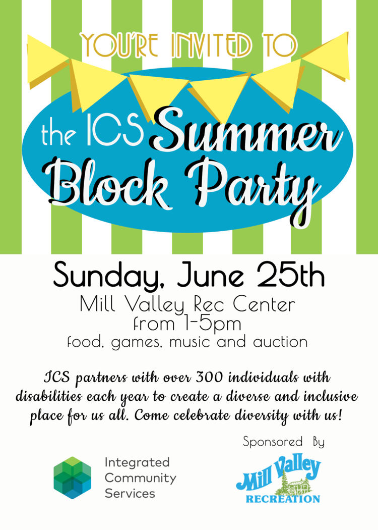 the ICS Summer Block Party